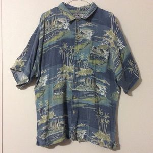 Pirate Surf Men's Vacation Button Down Shirt